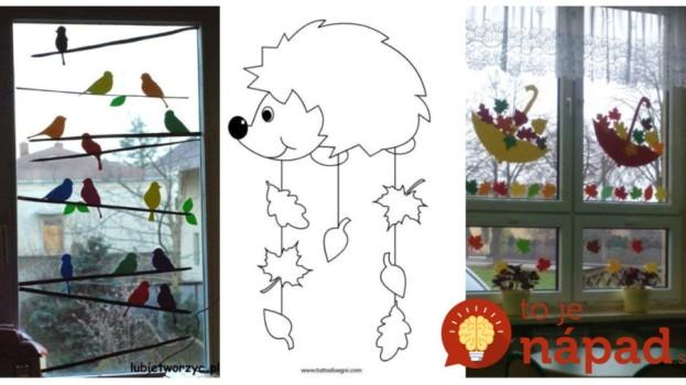 Z tohoto budú deti vo vytržení: 21 krásnych a hravých nápadov, ako si vyzdobiť okná na jeseň + šablóny!