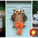 Stačí postaviť pred dvere a už nemusíte riešiť iné dekorácie: 21 nápadov na jesenné sovičky, ktoré očaria každého!