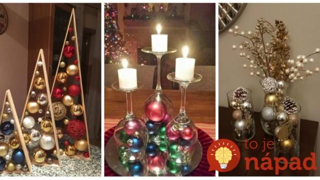 Vianočné gule nevešajte len na stromček, toto vyzerá úžasne: 21 úchvatných nápadov, ktoré vás budú tešiť celý advent!