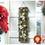 Nevešajte na ne len obyčajné vence: 22 nápadov na moderné a krásne adventné ozdoby na vchodové dvere!