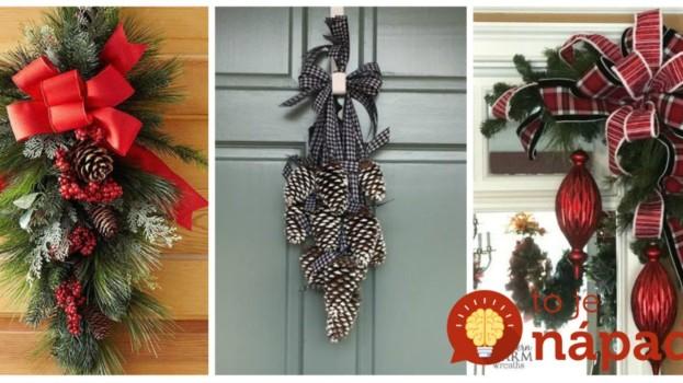 Nemusí to byť len o vencoch: 21 krásnych nápadov, ako si počas adventu vyzdobiť vchodové dvere!