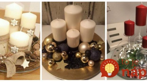 Zobrali obyčajný tanier, 4 sviečky a pár ozdob: 21 dôkazov, že z toho môžu byť tie najkrajšie dekorácie na adventný stôl!