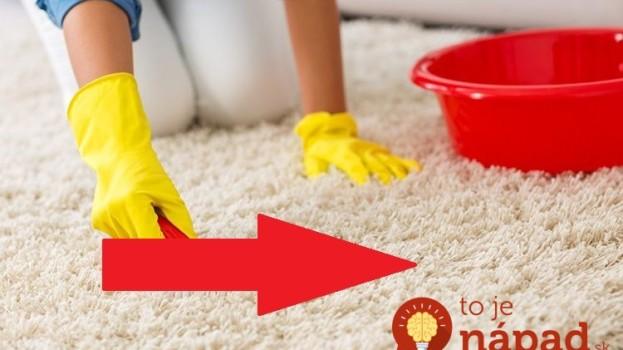 Za 10 minút máte perfektne čisté koberce: Ocot ani tep neotvárajte – toto vyčistí, oživí farbu a tá vôňa v celom byte sa ani nedá opísať!