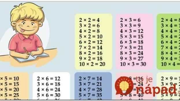 Kalkulačku už nevezmú do ruky, toto je geniálne: Najjednoduchší spôsob, ako naučiť deti násobilku – sypú ju z rukáva aj o polnoci!