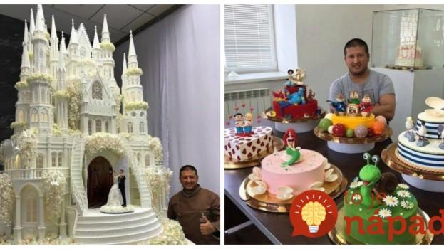 Ruský cukrár vytvára torty, ktoré sú ako vystrihnuté z rozprávky: Torta na kráľovskú svadbu vám vyrazí dych!