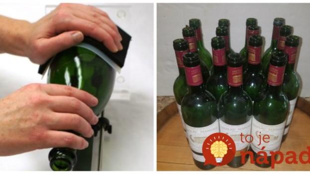 Perfektný trik s prázdnou fľašou od vína a odlakovačom: Keď uvidíte, čo z nej môžete mať, nevyhodíte už ani jediný kus!