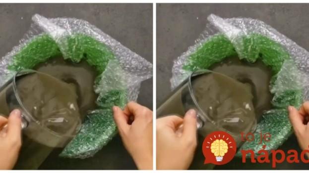 Na bublinkovú fóliu naliala betón a nechala zaschnúť: Čo vymyslela, vás bude tešiť v byte aj v záhrade!