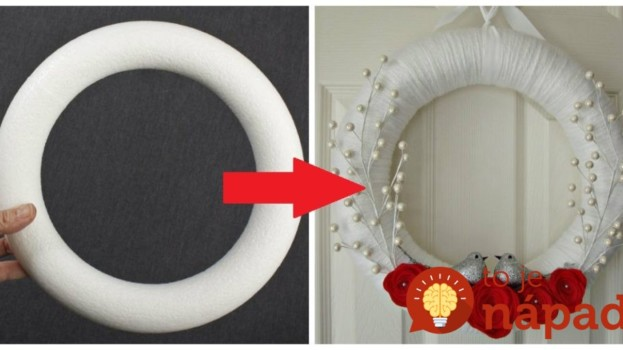 Kúpili len kruh z polystyrénu za pár drobných: Keď uvidíte tie úžasné nápady, na predražené vence v obchode už ani nepozrite!
