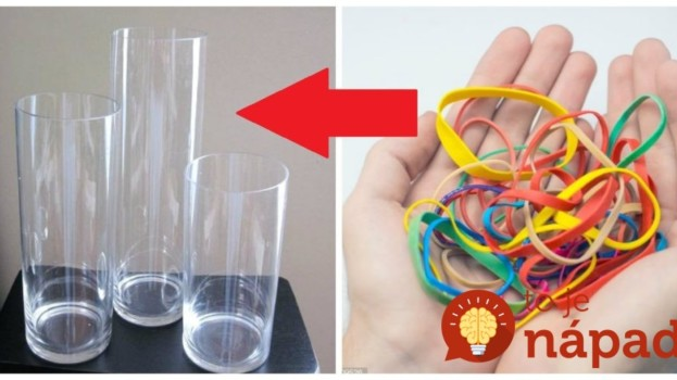 Zobrala tieto lacné gumičky a obyčajné vázy zo skla: Nikdy by nám nenapadlo, že toho vznikne niečo taká krása!