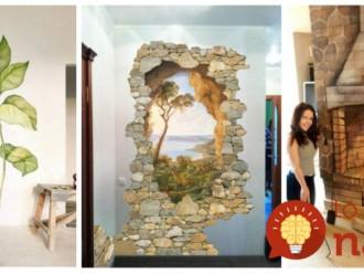 Tieto ženy menia prázdne steny v bytoch na nepoznanie: Úchvatné výtvory – pozrite sa, čo to spraví s obyčajnou izbou!