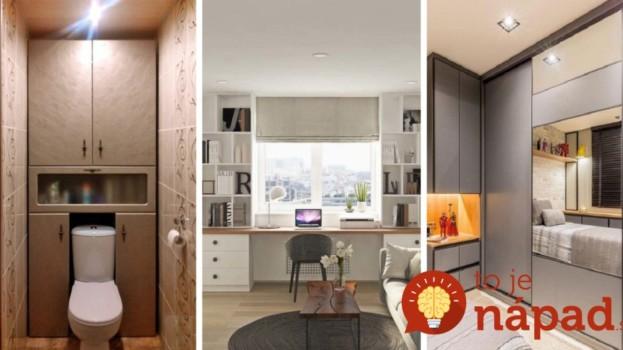 Lepšie nápady sme dávno nevideli: Fantastické riešenia úložného priestoru pre malé byty – vyzerajú úžasne!