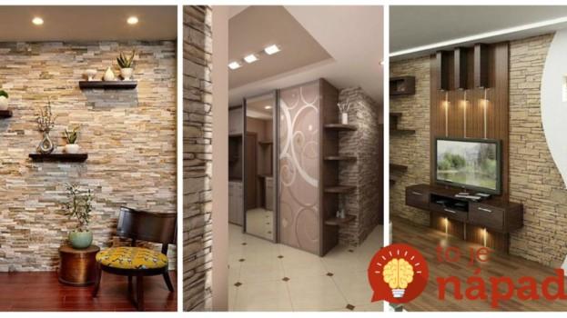 Stačí ho dať len na 1 stenu a zmení sa celá izba: Úžasné, čo dokáže kamenný obklad v interiéri – 19 inšpirácií!