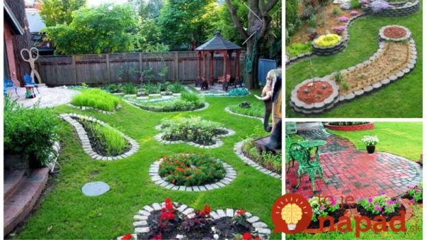 Perfektné nápady, ako oddeliť miesta v záhrade: Stačí pár kameňov alebo obyčajné tehly a záhrada vyzerá celkom inak – 17 inšpirácií!