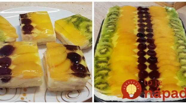 Úžasné želé kocky z hrnčeka: Fantastický tvarohový koláč s ovocím, deti ho doslova milujú!