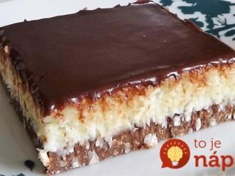 Úžasný Bounty koláč za 10 minút – nepečie sa: Famózny krém a netreba naň tvaroh ani smotanu!