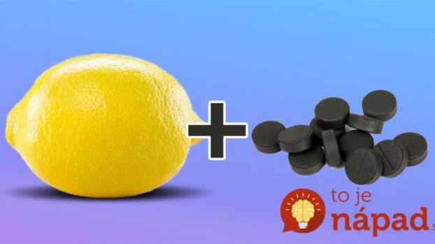 Zmiešajte pár tabliet aktívneho uhlia a citrón: Čo z tejto kombinácie vznikne ocení každá gazdinka!