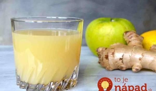 Zázvor, jablko a citrón – Najsilnejšia trojka pre zdravé črevá a dobré trávenie: 1 pohár denne a stratíte aj tukové zásoby!