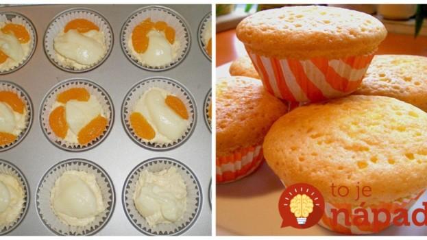 Rýchle vanilkové muffiny s mandarínkami – ako dych: Zabudnite na suché cesto, v strede sú krémové a chutia božsky!