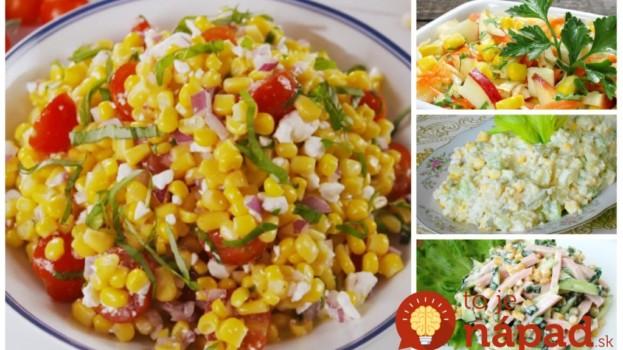 Žiadne zemiaky ani ryža – dajte si ako prílohu toto a kilá pôjdu dole:  Zbierka 11 top šalátov s kukuricou – sýte a o minútku na stole!