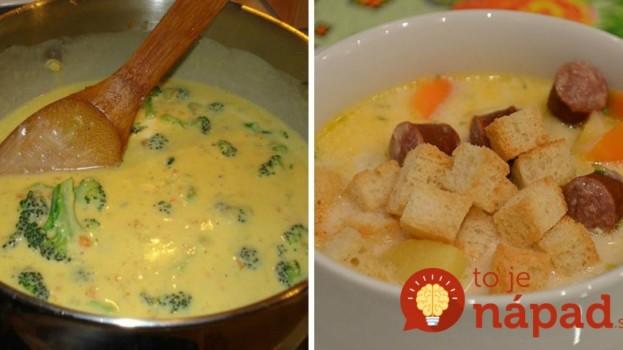 7 top receptov na domáce syrové polievky s fantastickou chuťou: Toto si zamiluje celá rodina a zvlášť deti – každú viete hneď pripraviť!