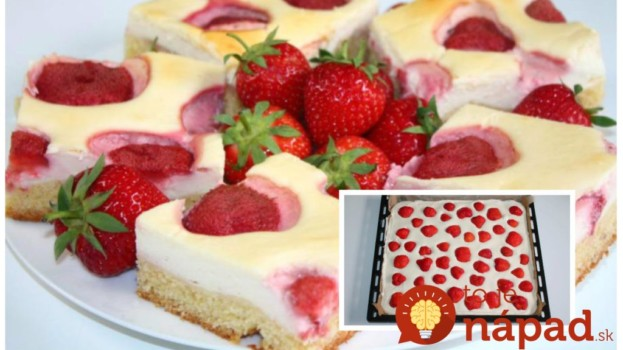Úžasný tvarohový koláč ku káve: Neprekonateľná piškóta, jahody a úžasný krém – lepší dezert nepoznám!