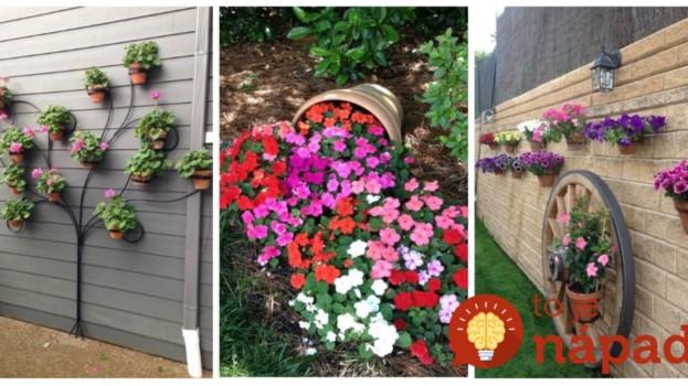 Namiesto toho, aby črepníky s kvetmi len postavili do záhrady, vymysleli tieto úžasné nápady: Aj obyčajné muškáty obdivuje celá ulica!