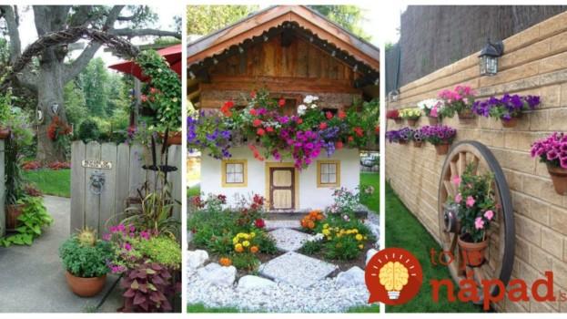 Tieto nápady sú ako z rozprávky: Žiaden drahý záhradný architekt, títo ľudia si záhradu vylepšili úplne sami!