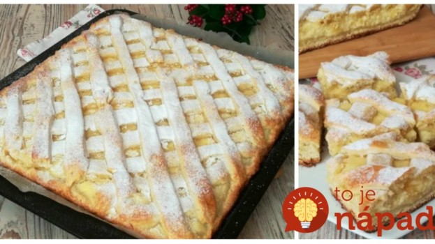 Jemný tvarohový mrežovník s jablkami: Každé sústo sa rozpadáva na jazyku – úžasný koláčik!