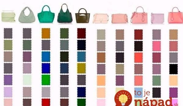 Dámy, s týmto sa nemôžete pomýliť: Geniálna pomôcka, ako kombinovať farbu kabelky a oblečenia – jediný pohľad a hneď viete!