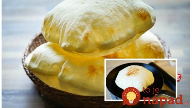 Japonské chlebové placky – cesto ako obláčik nadýchané: Na panvici sa takto krásne nafúknu!