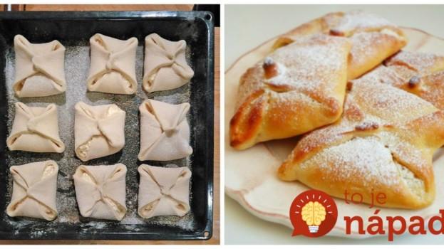 Nekysnuté tvarohové koláčiky z 3 prísad: Lístkové už nekupujem, z toho cesta upečiete čokoľvek – chuť famózna!