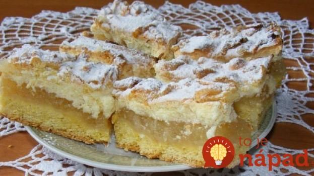 Vždy na jeseň robí moja teta úžasný koláč: Neporovnateľný jablkáč s pudingovou penou – každý pýta recept!