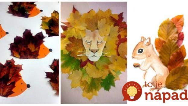 Len lístie, štetec, farby a lepidlo: Takto ich premeníte na dokonalé umelecké diela!