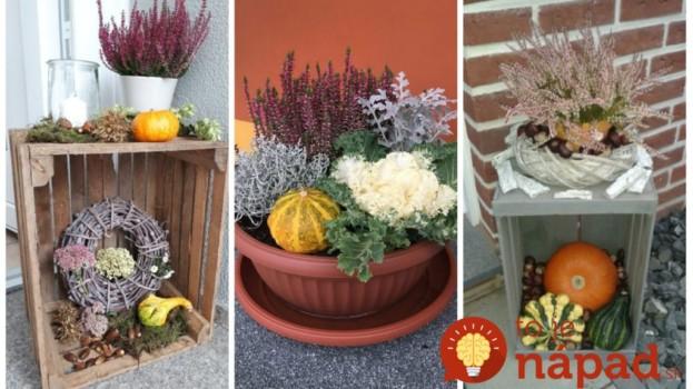 Vresy nemusíte vysádzať len do záhrady: 19 prekrásnych nápadov na jesennú výzdobu pred vchodové dvere!
