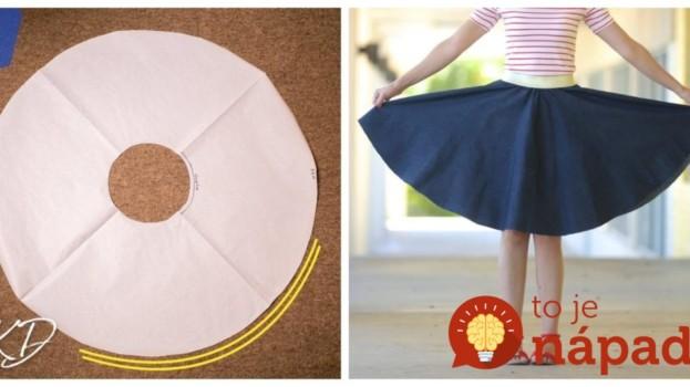 Krásna jednoduchá kruhová sukňa, ktorú zvládne aj začiatočníčka: Perfektný odskúšaný videonávod! Poteší vás, aj každú malú parádnicu.