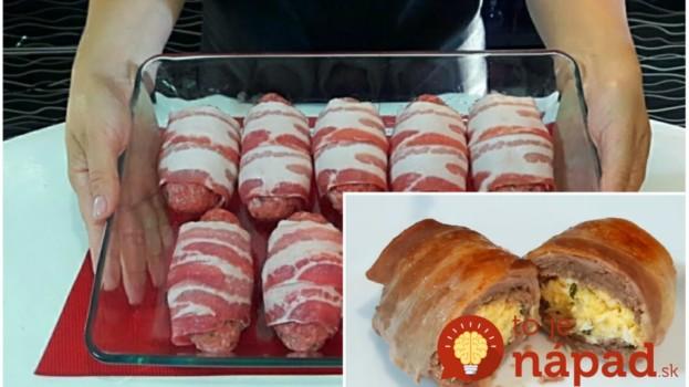Delikátne plnené slaninové závitky: Symfónia chutí vhodná aj na slávnostný stôl!