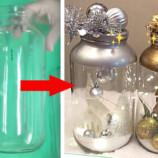 Len zaváraninový pohár a pár vianočných ozdôb: Takúto vianočnú nádheru si môžete vyrobiť aj vy!
