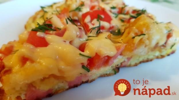 13-minútová pizza pre lenivých: Žiadne cesto nerobíte – stačí len zamiešať na panvici a chystajte taniere, chuť vynikajúca!