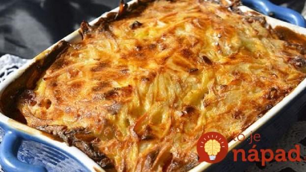 Ruský zemiakový kastról s kyslou smotanou: Perfektný obed z 1 misy, nevyjde vás ani na 3 Eurá a sýta celá rodina!