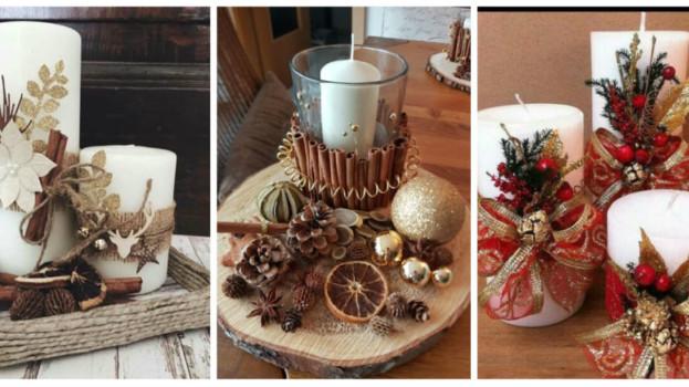 Potrebujete len obyčajnú bielu sviečku, škoricu a pár ozdôb: 19 krásnych nápadov, ako vyzdobiť sviečky v období adventu!